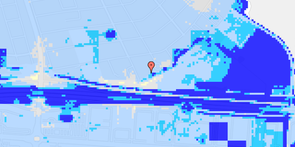 Ekstrem regn på Strandholms Alle 55B