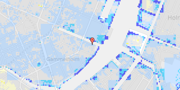 Ekstrem regn på Nyhavn 42B, 1.