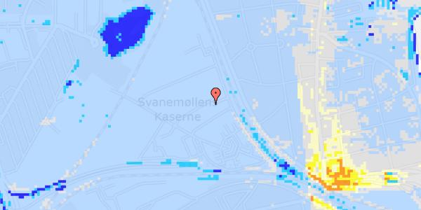 Ekstrem regn på Svanemøllens Kaserne 75B