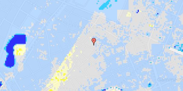 Ekstrem regn på Købmagergade 46A, 1.