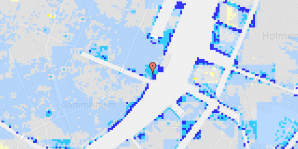 Ekstrem regn på Nyhavn 71, 5.