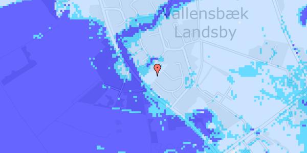 Ekstrem regn på Møllestensvej 21