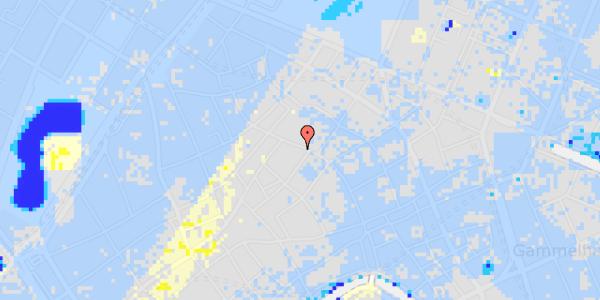 Ekstrem regn på Købmagergade 41, st.