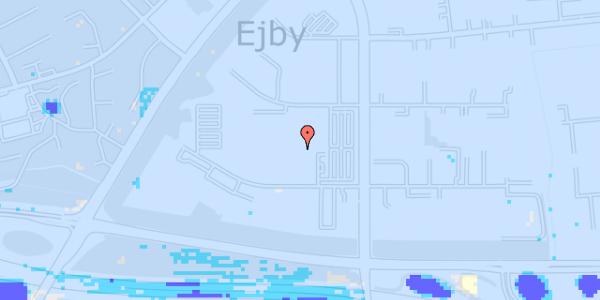 Ekstrem regn på Ejby Industrivej 33