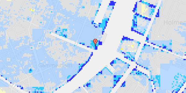 Ekstrem regn på Nyhavn 71, 4.