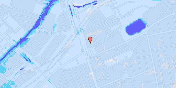 Ekstrem regn på Hans Knudsens Plads 1B