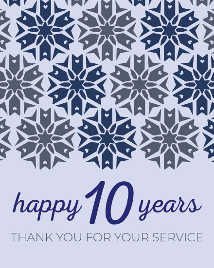 anniversary card 10 years of service
