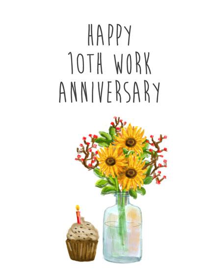 anniversary card 10th anniversary flowers