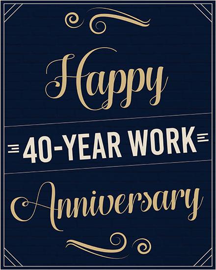 anniversary card 40 years