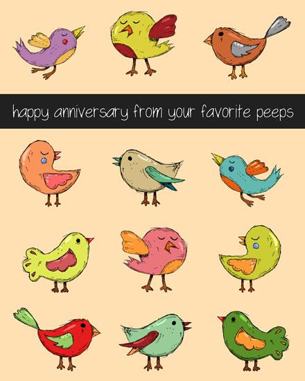 anniversary card favorite peeps