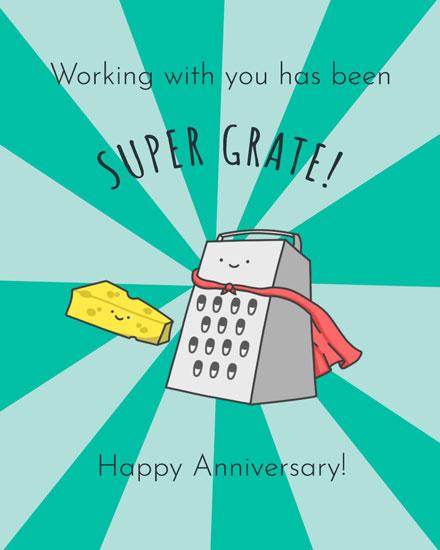 anniversary card cheesy super grate anniversary