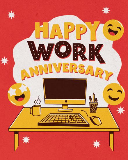 anniversary card desktop emojis
