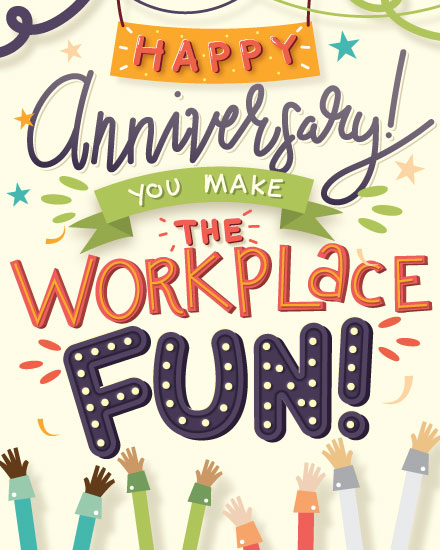 anniversary card fun workplace
