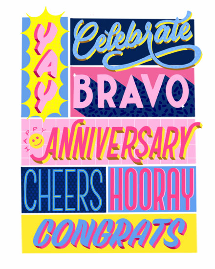 anniversary card collage of praise