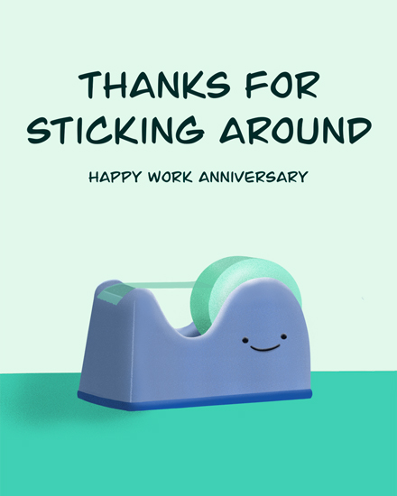 anniversary card thanks for sticking around