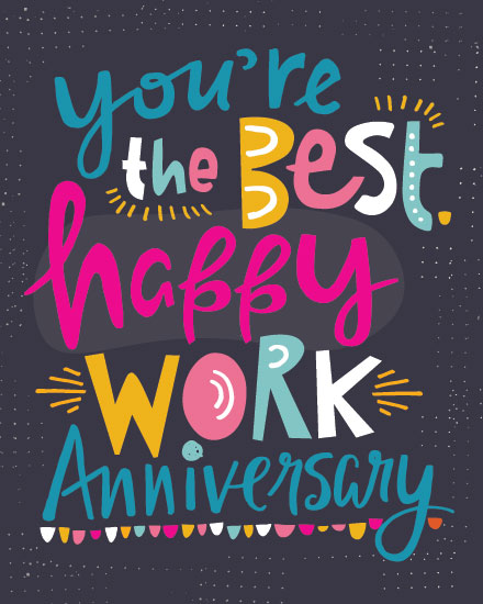 anniversary card youre the best happy work anniversary