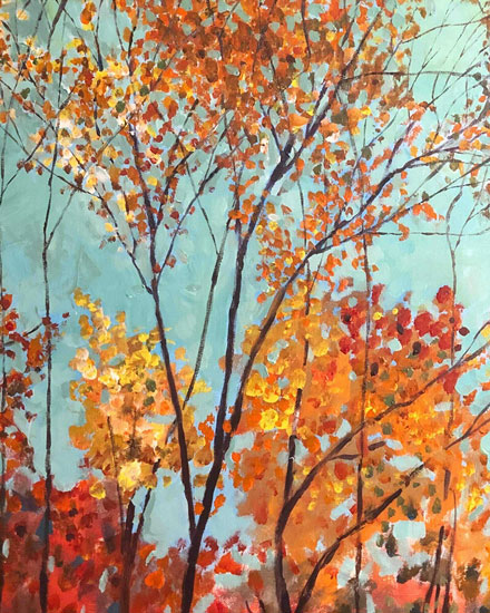 any occasion card autumn leaves