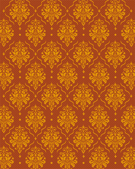 any occasion card baroque pattern
