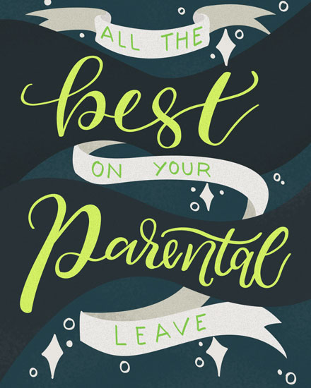 baby card all the best on your parental leave