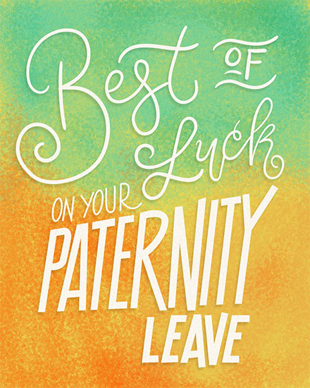 baby card best of luck on paternity leave