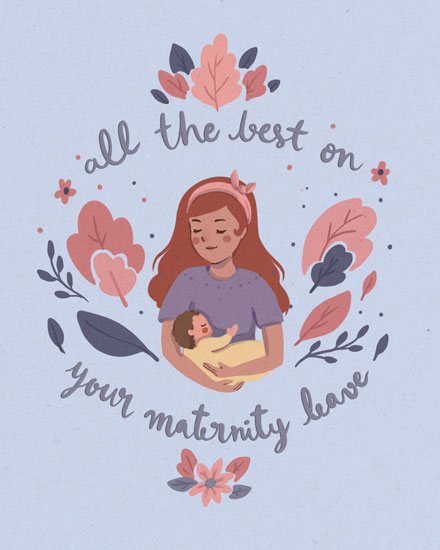 baby card all the best on your maternity leave