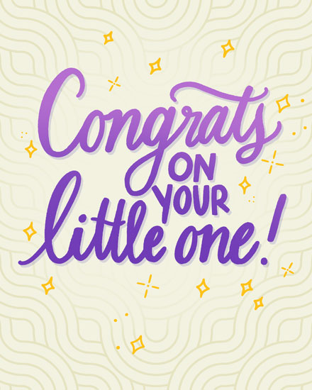 baby card congrats on your little one