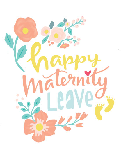 baby card happy maternity leave
