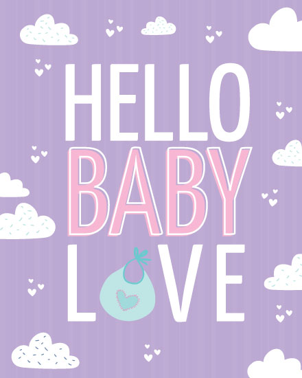 baby card hello baby love