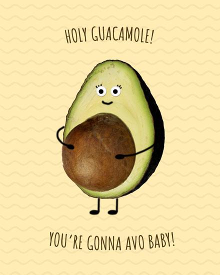 baby card holy guacamole avo baby
