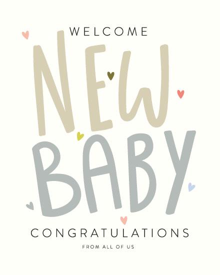 baby card welcome new baby congratulations