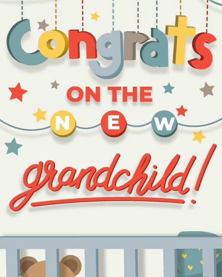 baby card congrats on the grandchild mobile