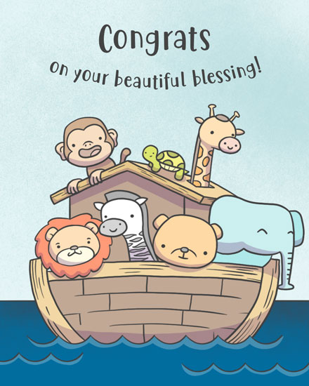 baby card noahs ark