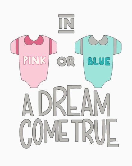 baby card pink blue onesies