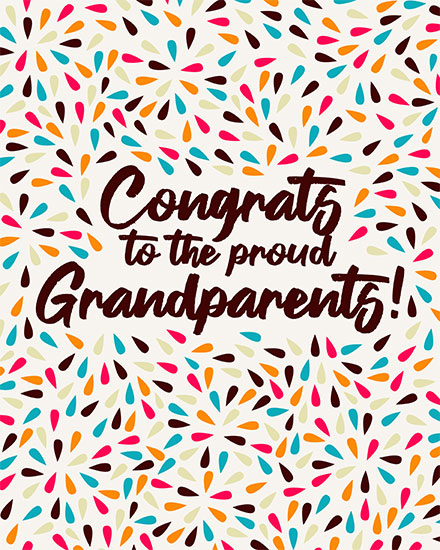 baby card congrats to the proud grandparents