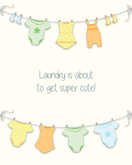 baby card super cute laundry