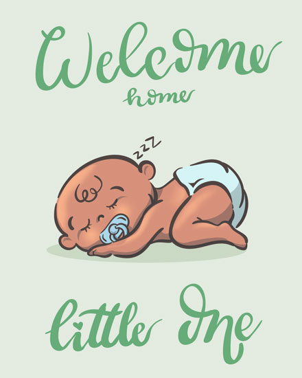 baby card welcome home little one