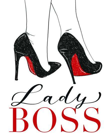 boss day card lady boss high heels