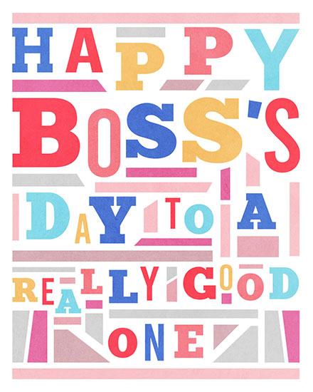 boss day card happy boss day mosaic