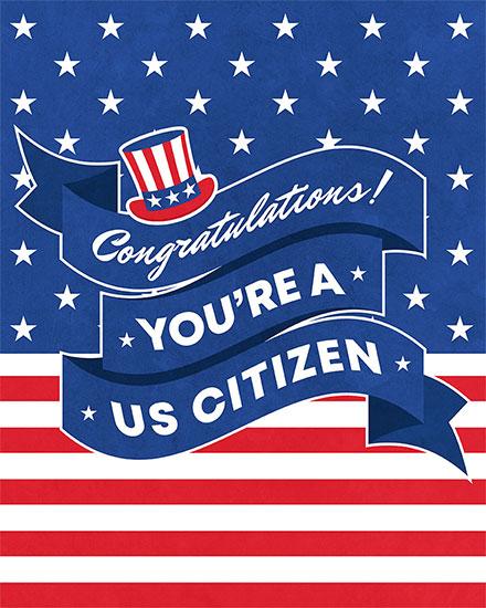 congratulations card congratulations youre a US citizen