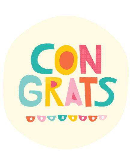 congratulations card colorful congrats