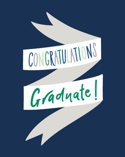 graduation card graduate ribbon