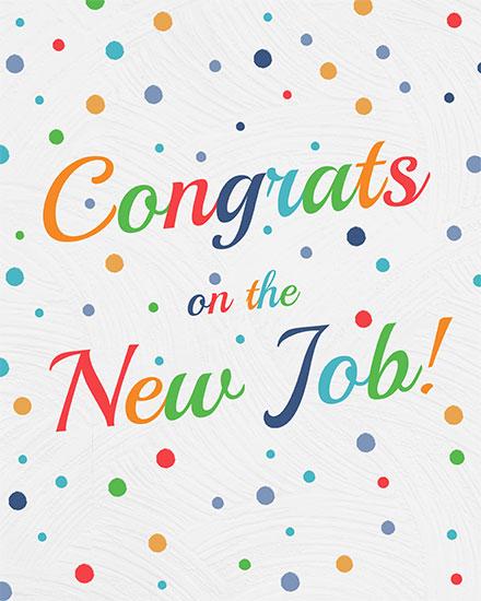 congratulations card congrats on the new job