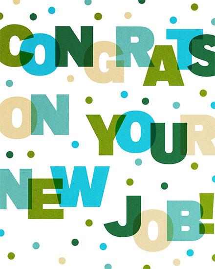 congratulations card congrats on your new job