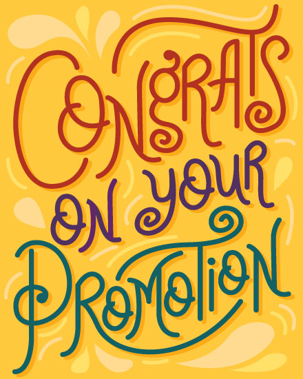 congratulations card congrats promotion