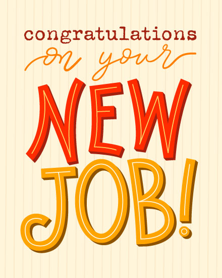 congratulatioins card new job