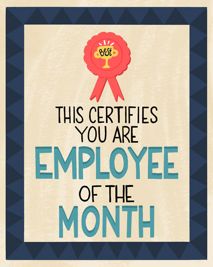 congratulations card employee of the month