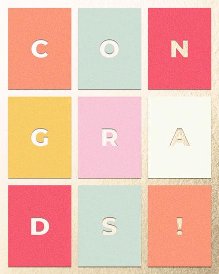 graduation card rectangles