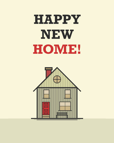 congratulations card happy new home