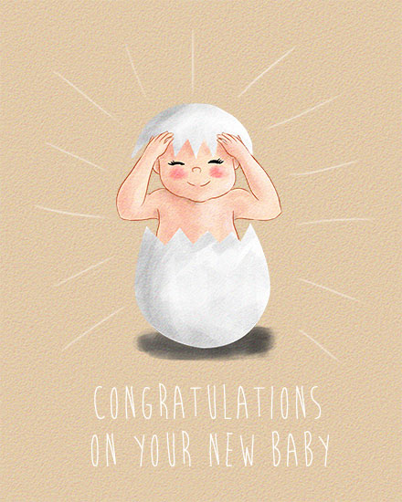 congratulations card hatching gender neutral baby