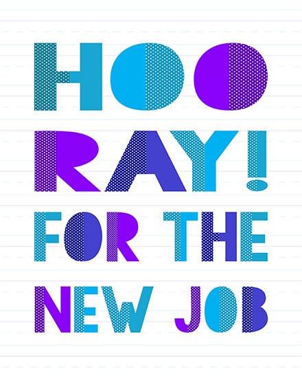 congratulations card hooray for the new job